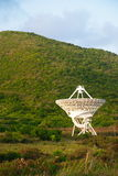 在圣Croix,美国维尔京群岛的美国航空航天局卫星 库存照片