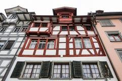 在圣Gallen的典型的建筑风格 库存图片