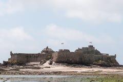 在圣Helier的伊丽莎白城堡 免版税库存照片