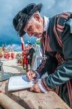 在圣Jonh的骑士的瓜迪亚游行在比尔古,马耳他 库存照片