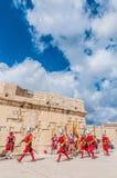 在圣Jonh的骑士的瓜迪亚游行在Birgu,马耳他。 库存照片