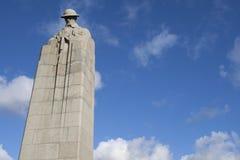 在圣Juliaan的加拿大纪念碑 图库摄影