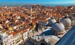 在圣Marco广场的顶视图在威尼斯 免版税库存图片