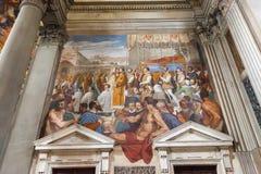 在圣Marco教会,佛罗伦萨,意大利内部的壁画 免版税库存图片