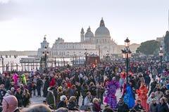 在圣Marco江边的狂欢节庆祝  免版税库存照片