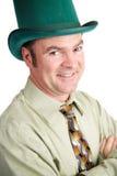 在圣Patricks日的英俊的爱尔兰人 库存照片