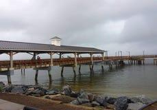 在圣Simons海岛, GA上的码头 库存图片