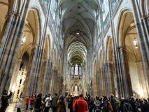 在圣Vitus大教堂里面 免版税库存照片