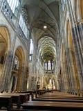 在圣Vitus大教堂里面 库存图片
