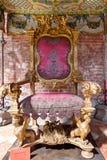 在圣Zanipolo,威尼斯,意大利的公爵的椅子 免版税库存照片