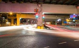 在地下过道的交通 免版税库存图片