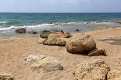 在地中海海岸的石头 库存图片