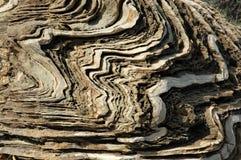 在地中海海岸的被风化的石灰石 库存照片