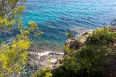 在地中海海岸的风景 图库摄影