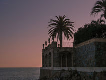 在地中海海岸, S `阿加罗,肋前缘Brava,西班牙的大厦 免版税库存照片