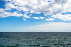 在地中海的天际 免版税库存照片