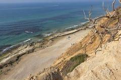 在地中海的岸 免版税库存照片