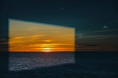 在地中海的日出 免版税图库摄影