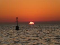 在地中海的日落, 免版税库存照片