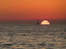 在地中海的日落, 免版税库存图片