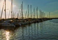 在地中海的游艇 免版税库存图片
