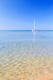 在地中海的看法 免版税库存照片