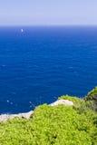 在地中海的看法 库存图片
