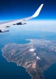 在地中海的航空旅行 图库摄影