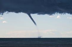 在地中海的龙卷风 库存照片