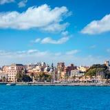 在地中海西班牙的卡塔赫钠地平线穆尔西亚 免版税库存照片