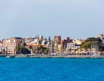 在地中海西班牙的卡塔赫钠地平线穆尔西亚 库存照片