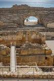 在地中海附近的古老罗马圆形剧场 免版税库存图片