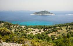 在地中海,土耳其的海岸线 库存照片