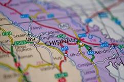 在地图的ChiÈ™inău 免版税库存图片