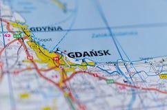 """在地图的GdaÅ """"sk 库存照片"""