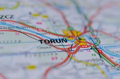 """在地图的ToruÅ """" 库存图片"""