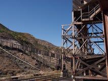 在地图集煤矿Drumheller酗酒 图库摄影