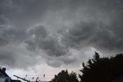 在地平线的暴风云 免版税库存图片