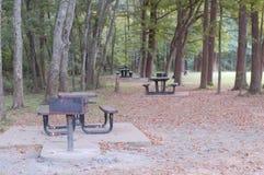 在地方公园的野餐时间 免版税库存照片
