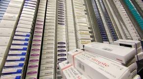 在地方配给物仓库的药房药物 免版税图库摄影