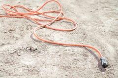 在地板上的一缆绳 免版税库存照片