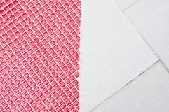 在地板上的陶瓷板材 免版税库存照片