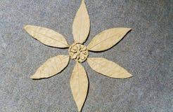 在地毯的手工制造黏土花 库存图片