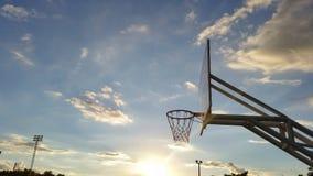 在地点的体育篮球 库存图片