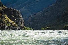 在地狱峡谷,爱达荷的怀特沃特急流 图库摄影