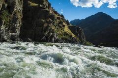 在地狱峡谷,爱达荷的怀特沃特急流 免版税库存照片