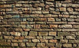 在地球口气的石墙背景 免版税库存图片
