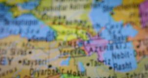 在地球的伊拉克国家地区地图 影视素材