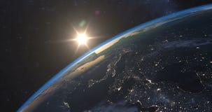 在地球的壮观的日落 库存例证