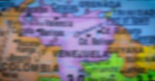在地球的委内瑞拉国家地区地图 股票视频